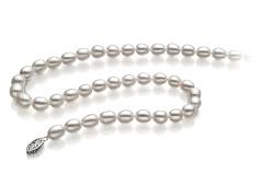Goccia Bianco 8.5-9.5mm Qualità AA - Collana di Perle di Acqua Dolce
