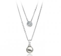 Ramona Bianco 7-8mm Qualità AA - Collana di Perle Akoya Giapponese - Argento Sterling 925