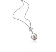 Coralie Bianco 7-8mm Qualità AA - Perla Pendente Akoya Giapponese - Argento Sterling 925