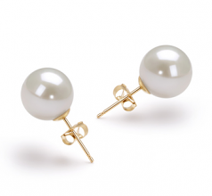 Bianco 10-11mm Qualità AAAA - Set Orecchini di Perle Acqua Dolce