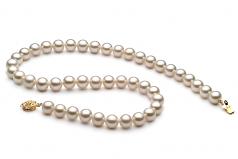 Bianco 8-9mm Qualità AAA - Collana di Perle di Acqua Dolce - Oro Riempito