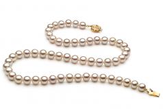 Bianco 6-7mm Qualità AAAA - Collana di Perle di Acqua Dolce