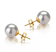 Bianco 10-11mm Qualità AAA - Set Orecchini Dei Mari del Sud