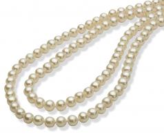 30 pollici Bianco 5-6mm Qualità AAA - Collana di Perle di Acqua Dolce