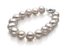 Singolo Bianco 10-11mm Qualità A - Braccialetto di Perle di Acqua Dolce