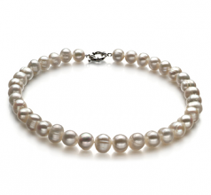 Singolo Bianco 10-11mm Qualità A - Collana di Perle di Acqua Dolce