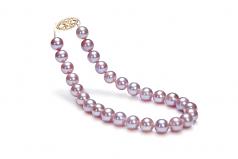 Lavanda 6-6.5mm Qualità AA - Braccialetto di Perle di Acqua Dolce - Oro Riempito