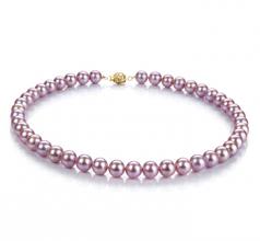 Lavanda 8.5-9.5mm Qualità AAAA - Collana di Perle di Acqua Dolce - Oro Riempito