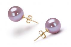 Lavanda 9-10mm Qualità AAAA - Set Orecchini di Perle Acqua Dolce
