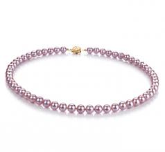 Lavanda 6-6.5mm Qualità AAAA - Collana di Perle di Acqua Dolce - Oro Riempito