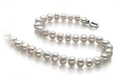 Sinead Bianco 8-9mm Qualità A - Collana di Perle di Acqua Dolce - Argento Sterling 925