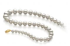 Bianco 5-10mm Qualità AAA - Collana di Perle di Acqua Dolce - Oro Riempito
