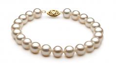 Bianco 7.5-8.5mm Qualità AA - Perla Incastonata di Acqua Dolce