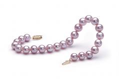 Lavanda 7-8mm Qualità AA - Braccialetto di Perle di Acqua Dolce