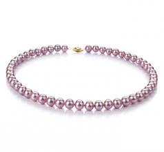 Lavanda 7-8mm Qualità AA - Collana di Perle di Acqua Dolce