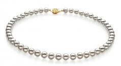 Bianco 8-8.5mm Qualità Hanadama - AAAA - Collana di Perle Akoya Giapponese - Oro Giallo 14k