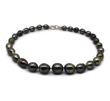 17 pollici Multicolore 9-13mm Qualità Barocca - Collana di Perle Di Tahiti - Argento Sterling 925