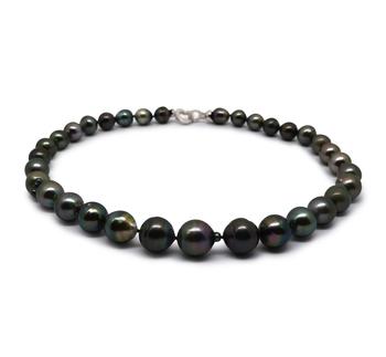 17,5 pollici Multicolore 10-14mm Qualità Barocca - Collana di Perle Di Tahiti - Argento Sterling 925