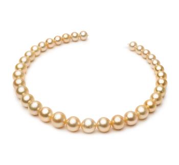 18 pollici Oro 10.1-14.6mm Qualità AA - Collana di Perle Dei Mari del Sud - Oro Giallo 14k