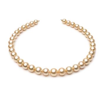 18 pollici Oro 9.6-12.6mm Qualità AA+ - Collana di Perle Dei Mari del Sud - Oro Giallo 14k