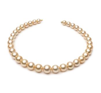 18 pollici Oro 9.3-13.3mm Qualità AA - Collana di Perle Dei Mari del Sud - Oro Giallo 14k