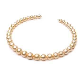 18 pollici Oro 9.3-13.2mm Qualità AA+ - Collana di Perle Dei Mari del Sud - Oro Giallo 14k