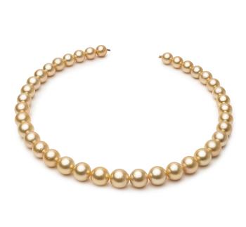 18 pollici Oro 9.5-11.9mm Qualità AA - Collana di Perle Dei Mari del Sud - Oro Giallo 14k