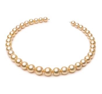 18 pollici Oro 9.7-13.9mm Qualità AA - Collana di Perle Dei Mari del Sud - Oro Giallo 14k