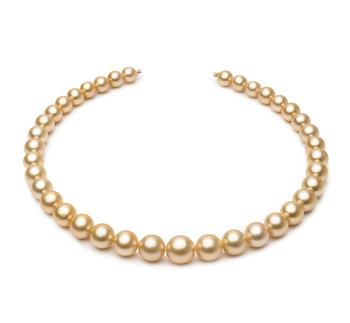 18 pollici Oro 9.2-12.8mm Qualità AA - Collana di Perle Dei Mari del Sud - Oro Giallo 14k