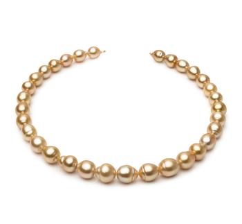 18 pollici Oro 10.1-12.5mm Qualità Barocca - Collana di Perle Dei Mari del Sud - Oro Giallo 14k