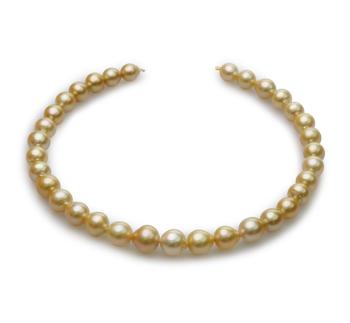 18 pollici Oro 10-14mm Qualità Barocca - Collana di Perle Dei Mari del Sud - Oro Giallo 14k
