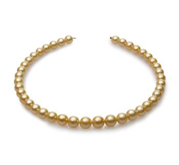 18 pollici Oro 9-12mm Qualità AA - Collana di Perle Dei Mari del Sud - Oro Giallo 14k
