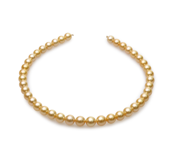 18 pollici Oro 9-11.4mm Qualità AA - Collana di Perle Dei Mari del Sud - Oro Giallo 14k