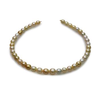 18 pollici Multicolore 8.2-12mm Qualità Barocca - Collana di Perle Dei Mari del Sud - Oro Giallo 14k