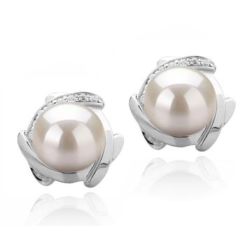 Alba Bianco 8-9mm Qualità AAAA - Set Orecchini di Perle Acqua Dolce - Argento Sterling 925