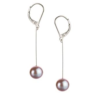 Amy Lavanda 8-9mm Qualità AA - Set Orecchini di Perle Acqua Dolce - Argento Sterling 925