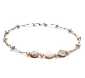 Ashley Bianca Bianco 3.5-4mm Qualità A - Collana di Perle di Acqua Dolce