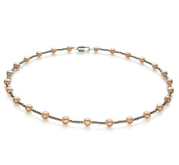 Atina Rosa 6-7mm Qualità A - Collana di Perle di Acqua Dolce
