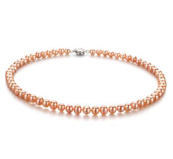 Beatitudine Rosa 6-7mm Qualità A - Collana di Perle di Acqua Dolce