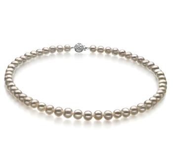Beatitudine Bianco 6-7mm Qualità A - Collana di Perle di Acqua Dolce