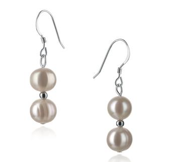 Cerella Bianco 6-7mm Qualità A - Set Orecchini di Perle Acqua Dolce - Argento Sterling 925