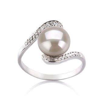 Chantal Bianco 9-10mm Qualità AA - Anello Perla di Acqua Dolce - Argento Sterling 925