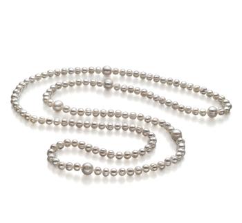 Chloe Bianco 6-11mm Qualità A - Collana di Perle di Acqua Dolce