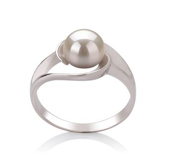 Clara Bianco 6-7mm Qualità AAA - Anello Perla di Acqua Dolce - Argento Sterling 925