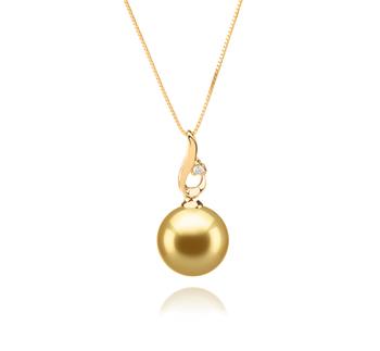 Darlene Oro 10-11mm Qualità AAA - Perla Pendente Dei Mari del Sud - Oro Giallo 14k