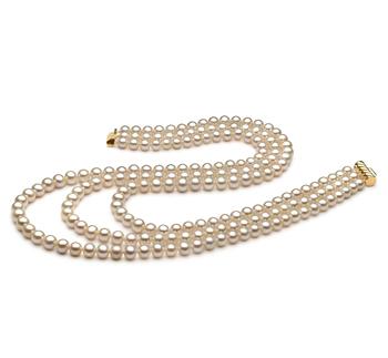 Dianna Bianco 6-7mm Qualità AA - Collana di Perle di Acqua Dolce