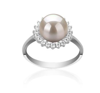 DREAMA Bianco 8-9mm Qualità AAAA - Anello Perla di Acqua Dolce - Argento Sterling 925