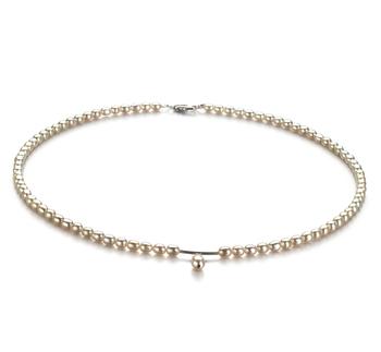 Goccia Bianco 3-4mm Qualità A - Collana di Perle di Acqua Dolce