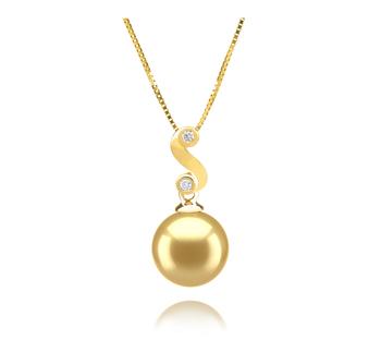 Gisela Oro 10-11mm Qualità AAA - Perla Pendente Dei Mari del Sud - Oro Giallo 14k