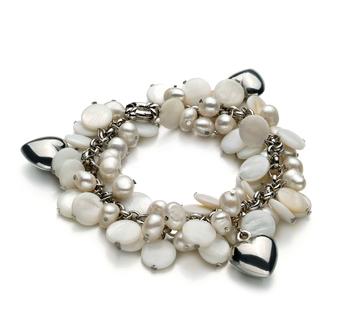 Harmony Bianco 6-7mm Qualità A - Braccialetto di Perle di Acqua Dolce